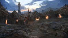 D&d Fantasy Village Art 6