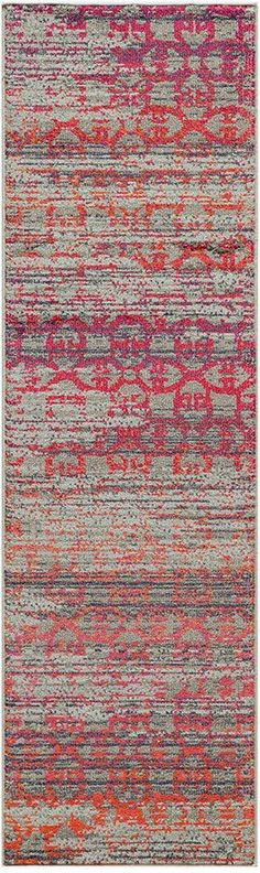 "Momeni Closeout! Modern Loom Orange 2'3""x7'6"" Runner Rug"
