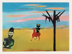 Artwork page for 'The Encounter', Sir Sidney Nolan, Australian Painting, Australian Artists, Sidney Nolan, Victoria Art, Ned Kelly, The Encounter, Magritte, Op Art, Recherche Google