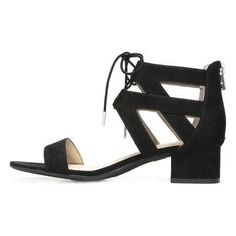 Women's Sam & Libby Elyse Ghillie Low Heel Pump Sandals - Black 8.5