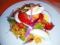 Šošovicový šalát s vajcom - Ozajstné zdravie na tanieri, chutný olovrant či rýchla večera, ktorá poteší naše chuťové poháriky