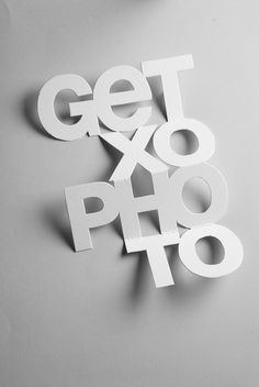 Getxophoto 2010 by IS Creative Studio // Print Design + Poster Design Typography Served, Cool Typography, Typography Poster, 3d Poster, Japanese Typography, Graphic Design Posters, Graphic Design Typography, Poster Designs, Typo Design