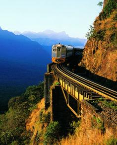 Train trip from Curitiba to Morretes, Brazil.