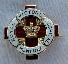 Graduation Pin: Royal Victoria Hospital School of Nursing 1941 (Montreal). My Grandfather was born there :)