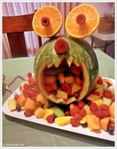 Monster Melon - so cute & fun, perfect for a monster party, or just a boring summer day.
