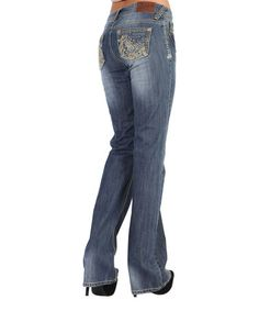 Another great find on #zulily! Medium Wash Water Rose Midrise Bootcut Jeans #zulilyfinds
