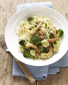 Seafood Pesto Pasta #healthy #inseason #seafood