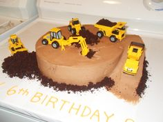 Simple Joy Crafting: Construction Birthday Cake