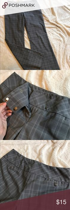 Plaid flare slacks Wide waistband narrows the waist while flared hem elongates legs. Small-scale plaid gives timeless vintage effect. Pants Boot Cut & Flare