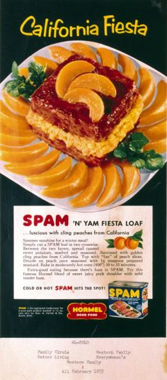 #Vintage #Advertising circa 1955 #SPAMbrand  I honestly don't understand these old recipes.