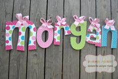CANDYLAND Handpainted Letter set by TheJellyBeanJunction on Etsy, $17.99
