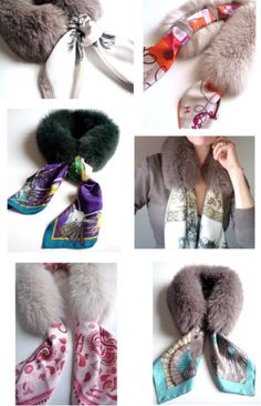 MaiTai's Picture Book: Scarf fur collar, Some winter scarves/ en fausse fourrure absolument! MaiTai Collection uploaded this image to 'Fur it Up/Saga Furs'. Wraparound fur collar with a place for different scarves. greats mix and match ideas Sewing Hacks, Sewing Crafts, Sewing Projects, Sewing Tutorials, Loom Scarf, Diy Accessoires, Work Jeans, Mode Blog, Travel Wardrobe