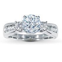 14K White Gold 5/8 Carat t.w. Diamond Ring Setting