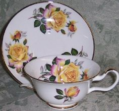 Peace Rose English Bone China Teacup Staffordshire Sheltonia Tea Cup