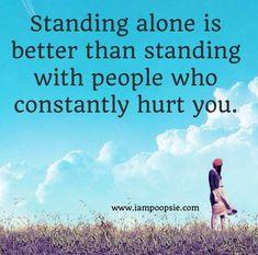 Standing alone quote via www.IamPoopsie.com