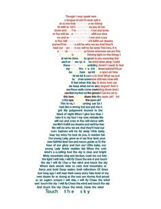 Princess Merida in text Wall Art - Disney Princess Art - Brave - Touch The Sky