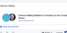 Now You Can Endorse Political Candidates On Facebook