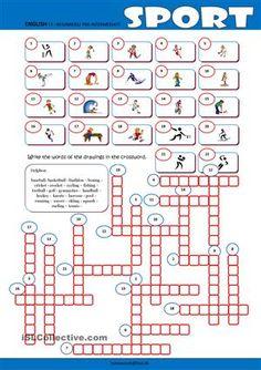 a crossword puzzle on practising reinforcing testing sport vocabulary key included esl. Black Bedroom Furniture Sets. Home Design Ideas