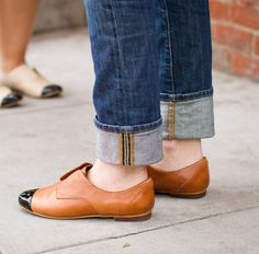 loafers with black tipped toes