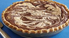 Peanut Butter Swirl Brownie Pie: I made this for a family reunion. I used a deep dish pie crust, but the batter still overflowed the crust when cooking. It had a good flavor, but I couldn't really taste the peanut butter. It was good though. I made this for a family reunion.