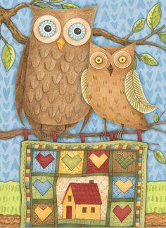 Debbie Mumm: I love owls :) (me too)