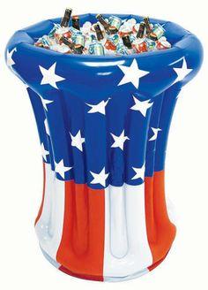 Patriotic Inflatable Cooler, 30021