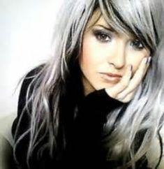 Grey Gray Streaks In Hair | hairstylegalleries.com