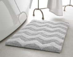 Features:  -Zigzag collection.  -Designs come to life with alternating looped and sheared fibers.  -Softness and texture improves with every washing.  -Thick construction makes these rugs extremely pl