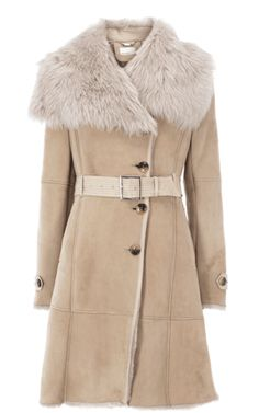 Glamorous oversize collar sheepskin coat  Karen Millen