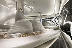 Futuristic Interior, Sky SOHO by Zaha Hadid Architects, Shanghai, China