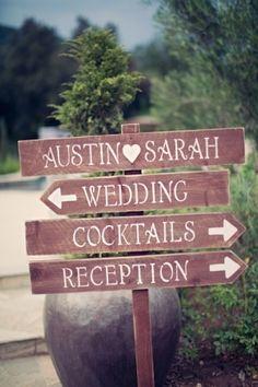Carteles señaladores para bodas campestres   foto