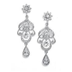 Earrings Chandelier Wedding or Prom Crystal Swirl ($24) ❤ liked on Polyvore featuring jewelry, earrings, accessories, brinco, wedding, swirl earrings, earring jewelry, bridal jewellery, crystal jewelry and crystal wedding jewelry