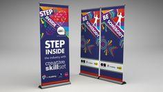 the-academy-step-inside-banner Roller Banners, Step Inside, Banner Design, Creative