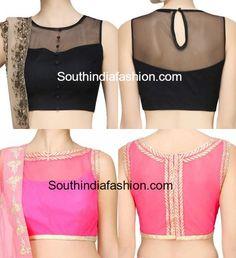net-blouse-boat-neck