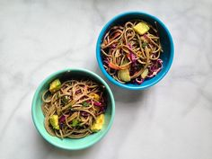 soba noodle salad vegetables