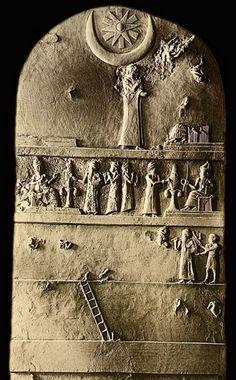 Sumerian stele of Ur Nammu - from ancient city of Ur, Mesapotamian culture