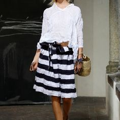 love this....any ideas where to find especially stripe skirt?