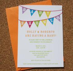 Baby Banner Shower Invitations. $16.00, via Etsy.