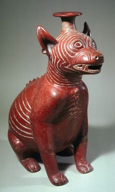 Seated dog, 300 A. Gift of Dr. William F. Ancient Art, Ancient History, Art History, Colombian Art, South American Art, Arte Tribal, Mesoamerican, Inca, Indigenous Art