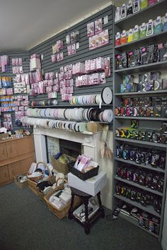 Sew Crafty... We are TEN! Sewing shop, Haberdashery, fireplace,