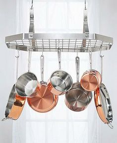 Store your cookware where you can see it with Cuisinart's hanging pot rack