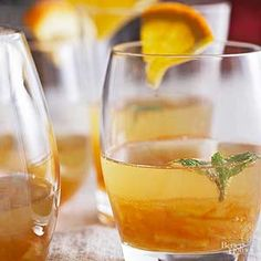 Combine brandy and champagne for a perfectly balanced drink./