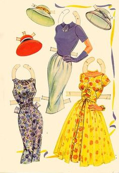 1958 Joanne Woodward paper doll clothes
