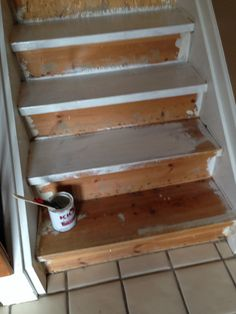 My stairs stained