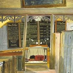 'Interior, Black Chapel, North End, near Dunmow, Essex' by Kenneth Rowntree, about 1942