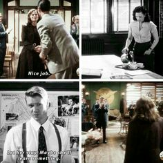 """""""Let her stay. Maybe she'll learn something"""" - #AgentCarter and Agent Jack Thompson"""
