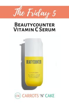 While I don't talk about Beautycounter a ton, I have to give a shoutout to my favorite vitamin C serum, the All Bright C Serum. It's gentle yet effective and helps with acne scars, pigmentation, and overall brightness. I typically wash my face, apply the C serum, and then Dew Skin – my favorite tinted moisturizer. Let me know what products you love!