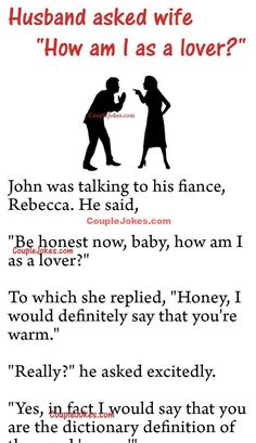 Humor Discover John asked his fiance Rebecca & am I as a lover? Funny Marriage Jokes Relationship Jokes Wife Jokes Positive Quotes For Life Motivational Quotes For Life Inspiring Quotes About Life Clean Funny Jokes Funny Jokes For Adults Humor English Clean Funny Jokes, Latest Funny Jokes, Short Jokes Funny, Funny Jokes For Adults, Old Man Jokes, Cop Jokes, Funny Marriage Jokes, Funny Relationship Jokes, Funny Birthday Jokes