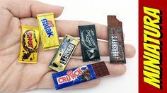 Como fazer Mini Barra de Chocolate para Barbie e outras Bonecas