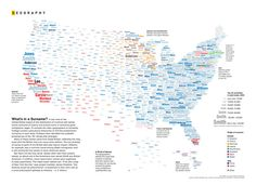 geography of surnames (Nat Geo)    http://flowingdata.com/2011/01/27/map-united-states-of-surnames/